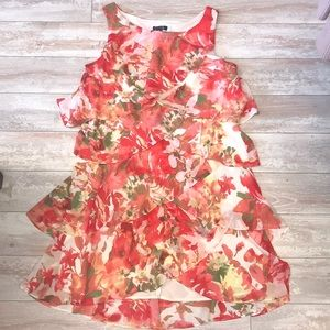 SL Fashion NY Floral Layer Event Dress Size 16